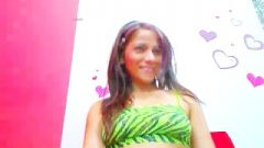 Latina Strips Then Blows Her Pink Sextoy HD