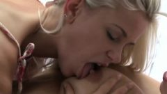 Lesbea HD Innocent Teen Humps Her Girlfriend's Thigh Before Sitting On Her Face