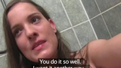 Girlfriends With Cute Natural Breasts Make Sextape In The Shower