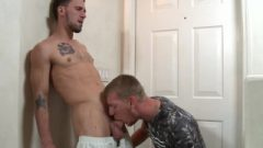 Extra Huge Cocks Buddy Taking Care Of Morning Wood