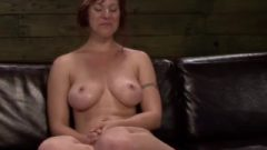 Clitpierced Lesbo Submissive Strapon Smashed