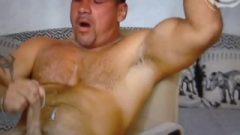 Suggestive Euro Hunk Jacks Off On Webcam
