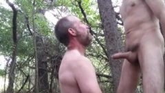 Manthroat Blows Pupbalto Outdoors In Public Woods