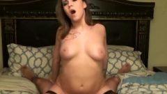 Arousing Teen Girlfriend Ejaculates Riding Her Boyfriends Huge Raw Penis