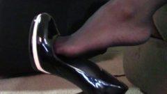 Jada's Black Pantyhose Shoeplay