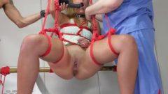 20 Year Old Anal Sex Slave, Sophia Grace, Takes Hard Treatment In Bondage