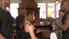 Devilsgangbangs Redhead Gets It In All Holes