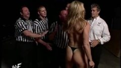 Wwe Divas Ivory Vs Tori Evening Gown Match (bra & Undies