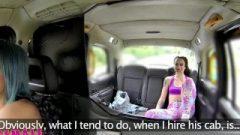 Femalefaketaxi Sensuous Lesbo Strap On Fuck In Cab