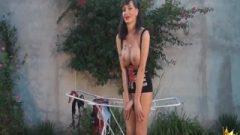 Mariana Cordoba Nailing Outdoors