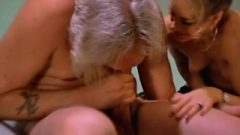 Seventies French Porn – Old Dude Takes Help To Suck His Own Huge Tool