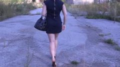 Natasha Without Undies Under Her Skirt