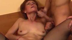 Redhead Grandma In Laced Sexy Pantyhos Bangs Nubile Penis