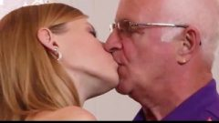 Naughty University Slut First Time Nailing Grandpa After Blow-Job Sperm Licking
