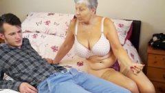 Granny Savana Ruined With Really Raw Stick