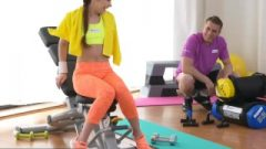 Fitnessrooms Young Cutey Takes Ruined After Her Sweaty Workout