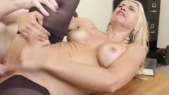 Busty Blond Boss Sarah Vandella Seduces Teen Employee